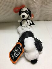 Snoopy The Bat Hallmark Peanuts Halloween Plush Dog & Ty Vampire Backpack Clip L