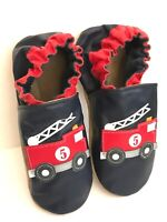 NEW Robeez No. 5 Fire Engine Leather Soft Sole Shoes Sz 5-6 years / 13.5-1
