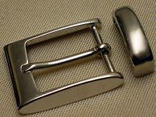 Fibbia cintura + passante F. cintura larghezza 30mm METALLO ARGENTO MATT Premium Elegante