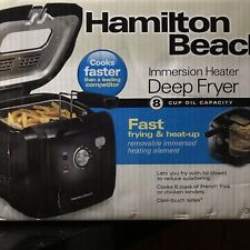 Hamilton Beach(35021)Deep Fryer,Cool Touch With Basket 2 Liter Oil Capacity New