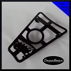 Vespa GTS GTV GT Floor board rack CUP HOLDER GLOSS BLACK - Classic Racks