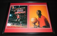 Michael Jordan Framed 16x20 Dunk Contest Photo Portrait Set Bulls