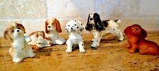 Japan & Homco Dog Puppy Figurine Lot Cocker Spaniel Canine Companions