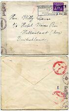 NETHERLANDS 3rd REICH CENSOR GERMANY WW2 1942 POSTAL SLOGAN CANCEL