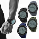 SKMEI Men LED Digital Alarm Sport Watch Silicone Military Army Quartz Wristwatch