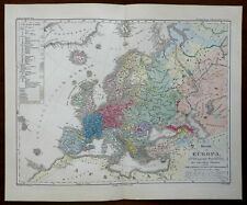 Peoples of Europe Ottoman Empire France Germany 1852 Berghaus ethnographic map