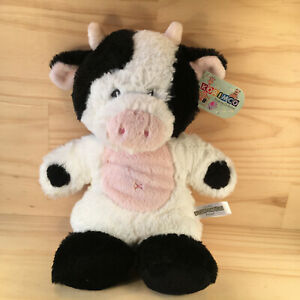 "SNUGEMS COW ""Black & White"" Gorgeous Cuddly Farm Animal Soft Toy Friend -Korimco"