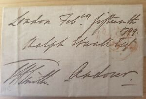 Antique Old Hand Written Letter Dated 1799