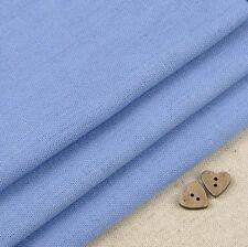 Robert Kaufman Essex Periwinkle Blue Linen Blend Fabric / dressmaking quilting