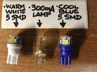 (25)BLUE-WHITE 8V-WEDGE LAMP LED/DIAL/SX-1250 SX1280 SX-1980 SX950 SX980 Pioneer