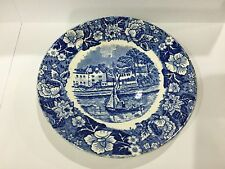 """Palissy Pottery Thames River Scenes Lady Place Hurley Berks Saucer 4.75"""""""