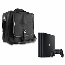 BLACK PREMIUM CONSOLE TRAVEL CARRYING CASE IN CAR BAG COVER FOR SONY PS4 PRO