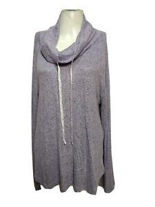 Gilligan o'malley Women New X-LARGE Hi-neck Long Sleeve Sleep Sweater(#m8