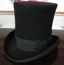 2018 Wool Black Victorian Mad Hatter Top Hat Vivi,Performing cap  6'Crown HOT