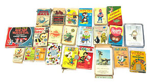 Lot Of 22 Vintage Card Games and Travel Games ED-U-CARDS Whitman Built Rite