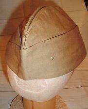 US Army Military Cap Garrison Cotton Uniform Twill Hat Khaki new old stock 6 7/8