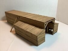 HO SCALE 1:87 WATER TANK / TOWER BUILDING WEATHERED & PAINTED WOOD EXCELLENT