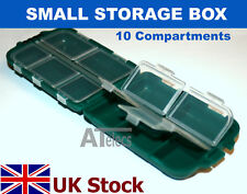 Small Storage Box , 10 Individual Compartments, Plastic - UK Stock