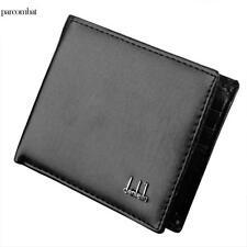 Men's Wallet Leather Pocket Card Clutch ID Credit Man's Bifold Purse Burse Pam Black