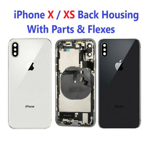 New iPhone X XS Rear Housing Cover Chassis With Parts & Flexes & Back Glass