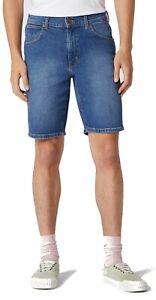 Wrangler 5 POCKET JEANS SHORT CLEANED UP kurze Jeans Hose Herren