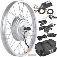 "36V 750W 20"" Front Wheel Tire Electric Bicycle eBike Conversion Kit w/Motor"