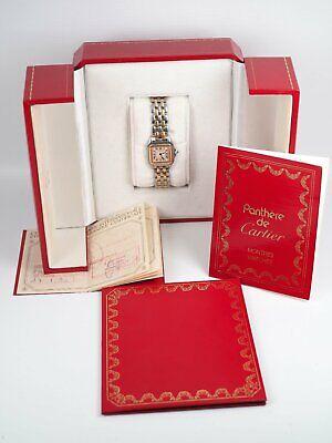 Cartier Panthere Stahl / 18k Gold Quarz Damen Armbanduhr Ref 1057917 Box Papiere
