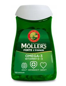 MOLLERS Forte Omega-3 (EPA, DHA, Vitamin D + E) 112 capsules, FREE P&P