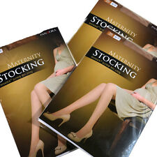 Beige 3piece Women Pregnant Maternity Tights Hosiery Solid Stockings Pantyhose