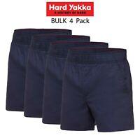 Mens Hard Yakka Elastic Waist Drill Shorts 4PK Cotton Work Comfy Everyday Y05545