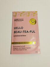 Black Tea Exfoliate & Glow Body Scrub 100g Delhicious Beauty Hello Beau-tea-ful