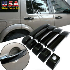 Glossy Black Door Handle Cover Trim For Land Rover Range Vogue L322 2002-2012