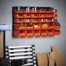 Wall Mounted Storage Bin Organiser Unit Tool Screws Nuts Bolts Workshop Garage