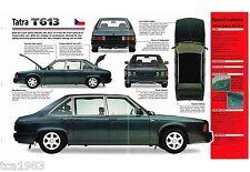 1975-1996 TATRA T613/T-613-4 SPEC SHEET/ Brochure: 1993,1994,1995