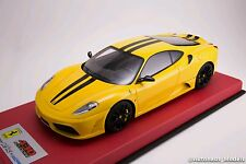 1/18 LookSmart Mr Ferrari F430 SCUDERIA Jaune Noir Cuir Rayure 25 pcs