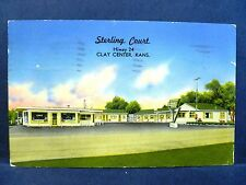 Postcard KS Clay Center Sterling Court Motel