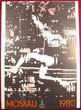 OLYMPIC GAMES MOSCOW 1980 XXII POSTER 9.2x12.6inch SOVIET RUSSIAN USSR RARE