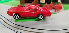 MM 69 GTO Judge Red HO slot car Dash Red T-jet 500 Chassis Custom Wheels