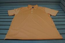 New Page & Tuttle Golf Solid Polo Mens Size Large Orange 101A  Shirt Clothing