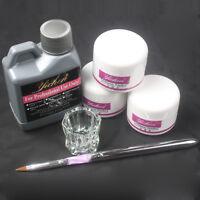 Nail Art Kits - 120ml Acrylic Liquid + 3Colors Powder  + Pen + Glass Dappen Dish
