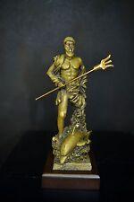 Poseidon(Neptune),the god of sea(BRONZE PATINA NEW)