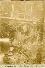 France, Vosges, Gérardmer Passerelle du Saut des Cuves ca.1899 vintage citrate p