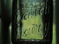 VINTAGE 1948  DAITCH DAIRY NEW YORK CITY   1/2  PINT MILK BOTTLE
