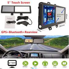 5'' 8G TFT Touch Screen Bluetooth Auto GPS Navigation SAT NAV FM Rearview Mirror