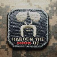 HARDEN THE F UP ARMY USA MILITARY MORALE MILSPEC ACU LIGHT COMBAT HOOK PATCH