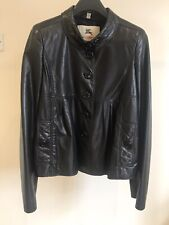 Beautiful Burberry Black  Real Leather Jacket