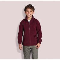 Kids North Fleece Jacket Long Sleeve Little One Outdoor School Outdoor Zip Coat