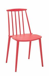 Chair Chiavarina 1689 CM 43x40x53H Packaging 4 Pieces, Red