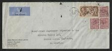 NORTHERN IRELAND UK TO ARGENTINA SEAHORSE AIR MAIL COVER 1937