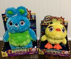 Toy Story Pixar Signature Collection DUCKY and BUNNY Talking Carnival Plush NIB